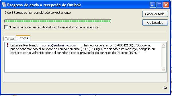 how to solve error 0x80042108