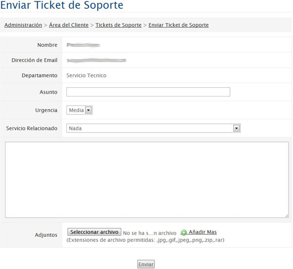 Crear ticket de soporte en Colombia